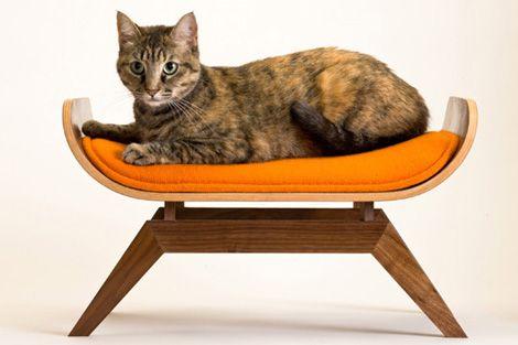 Retro kattenbed van Canopy Studio / www.woonblog.be