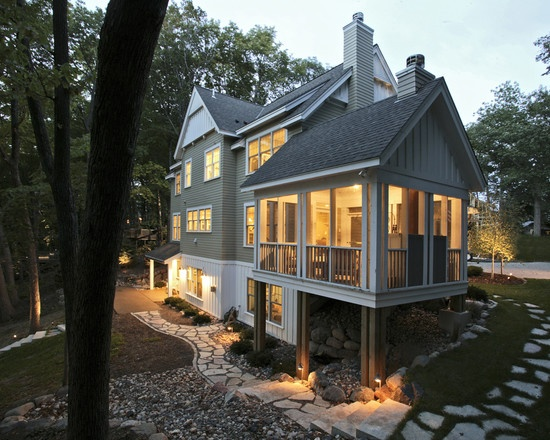 Traditional Exterior White Lap Siding Design Pictures Remodel Decor And Ideas Page 23