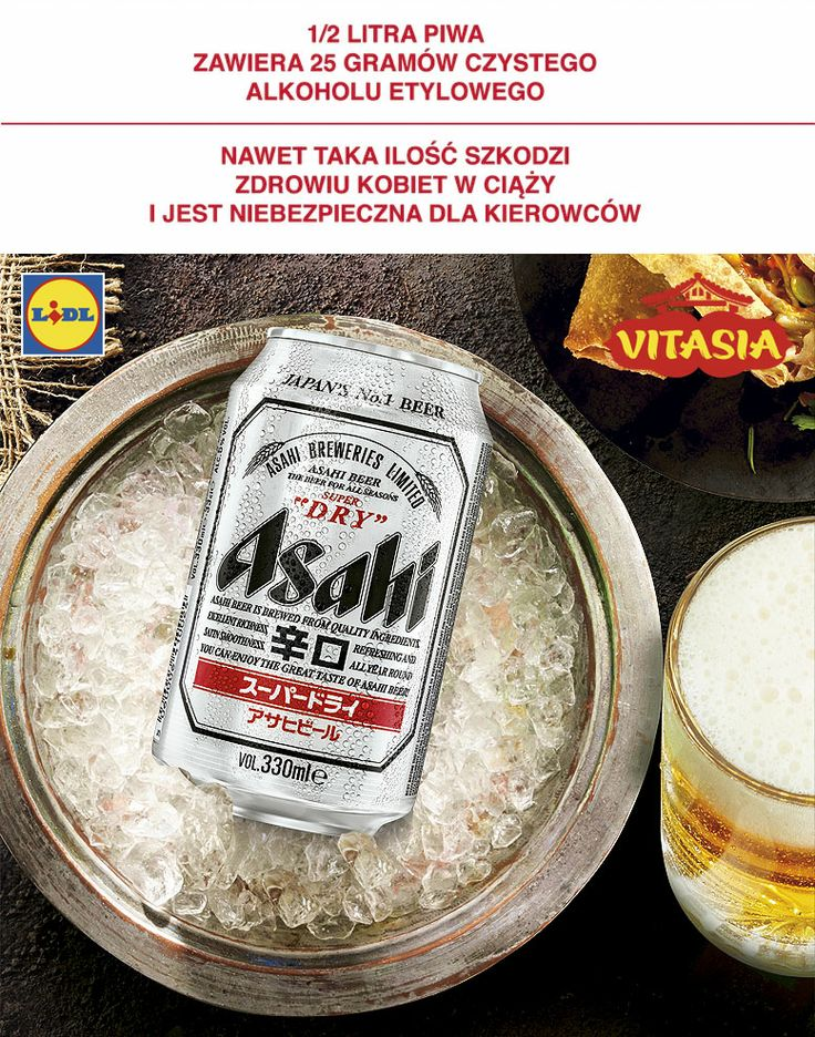 Piwo Asahi #lidl #vitasia