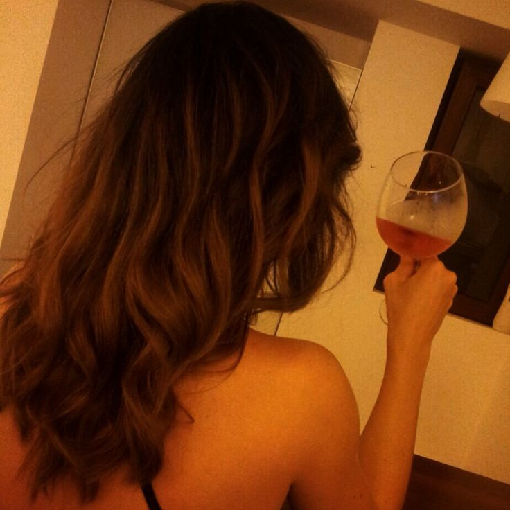 Ombre touch...a glass of wine a day keeps the doctor away. :)