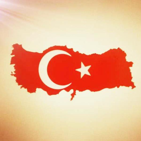 Turkey Flag Map Decal Wall Sticker #Turkey #Flag #Map #Decal #Wall #Sticker #Moon #Star #Red #White