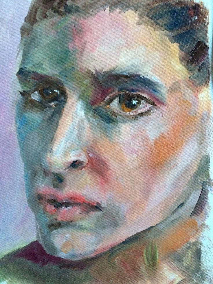 Oil painting portrait study.  Art