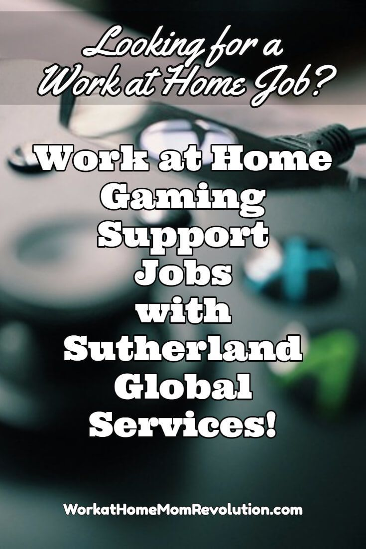 Sutherland Global Services is hiring work at home gaming support agents in the U.S. These are full-time home-based jobs. Company provides work from home agents a laptop computer. You can make money from home! Visit Work at Home Mom Revolution for more work at home jobs! http://workathomemomrevolution.com