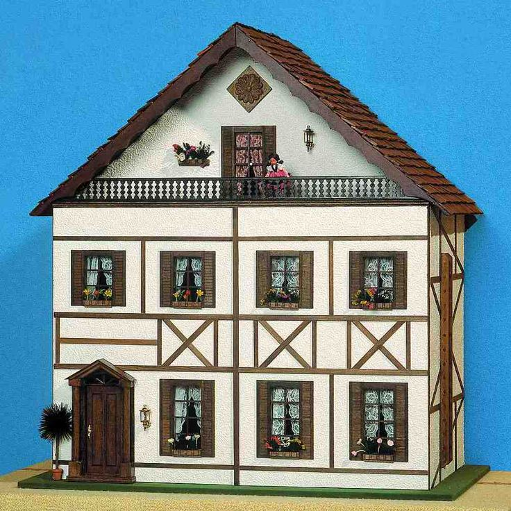 Dollhouse Miniatures Jensen: Southern German Timbered House