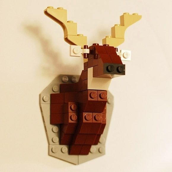 A tiny deer head hunting trophy   24 Unexpectedly Awesome Lego Creations