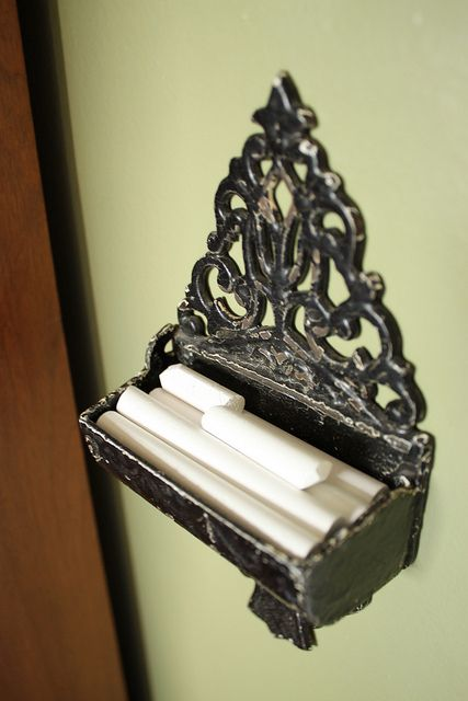 Vintage Chalk Holder For My Foyer Chalkboards Homeschool Rooms Pinterest Chalkboard And Wall