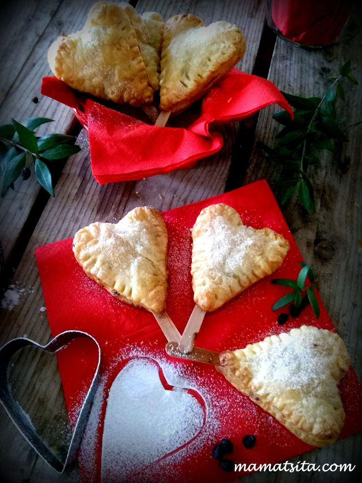 Delicious dough hearts #ValentinesDay #pastry #dough #heart #homemade #recipe #mamatsita