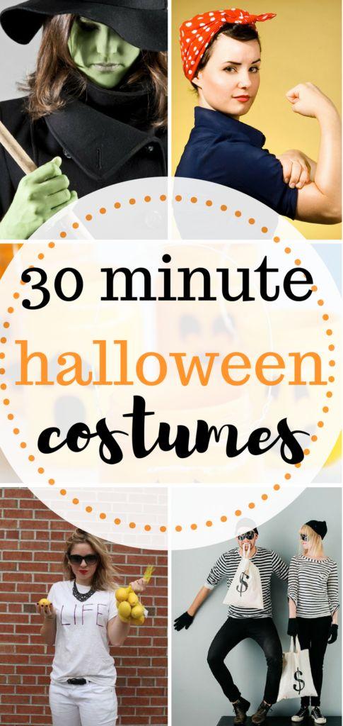 Easy Halloween Costumes  Simple halloween costumes, Quick DIY Halloween Costumes, Fast Halloween Costumes, Last Minute Halloween Costumes