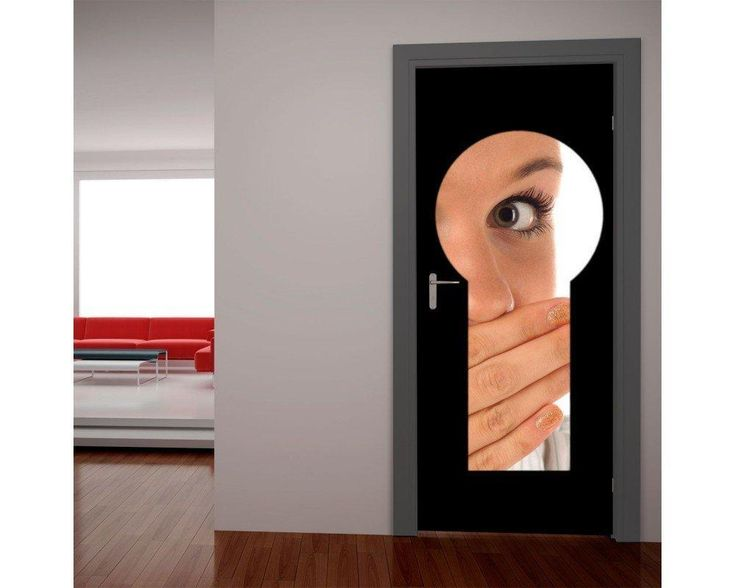 Η κλειδαρότρυπα, αυτοκόλλητο πόρτας , δείτε το!