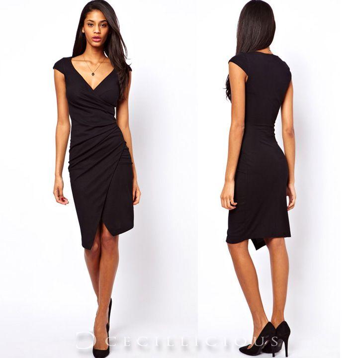 Ella Black Mini Dress