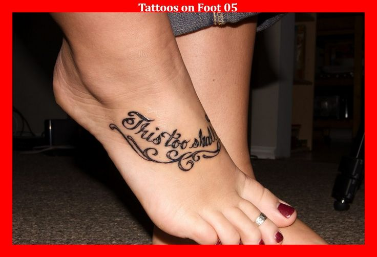 Tattoos on Foot 05