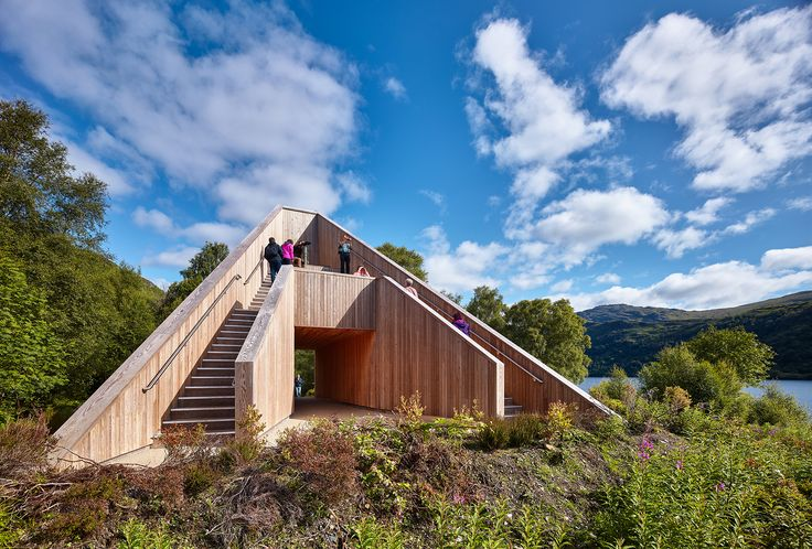 Completed in 2015 in Inveruglas, United Kingdom. Images by Andrew Lee, Ross Campbell, Mick McGurk. The site is located on a peninsula overlooking the U.K.'s largest stretch of inland water, Loch Lomond. An existing cafe marks the entrance situation...