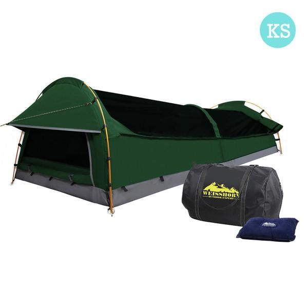 Green King Single Swag With Mattress & Air Pillow