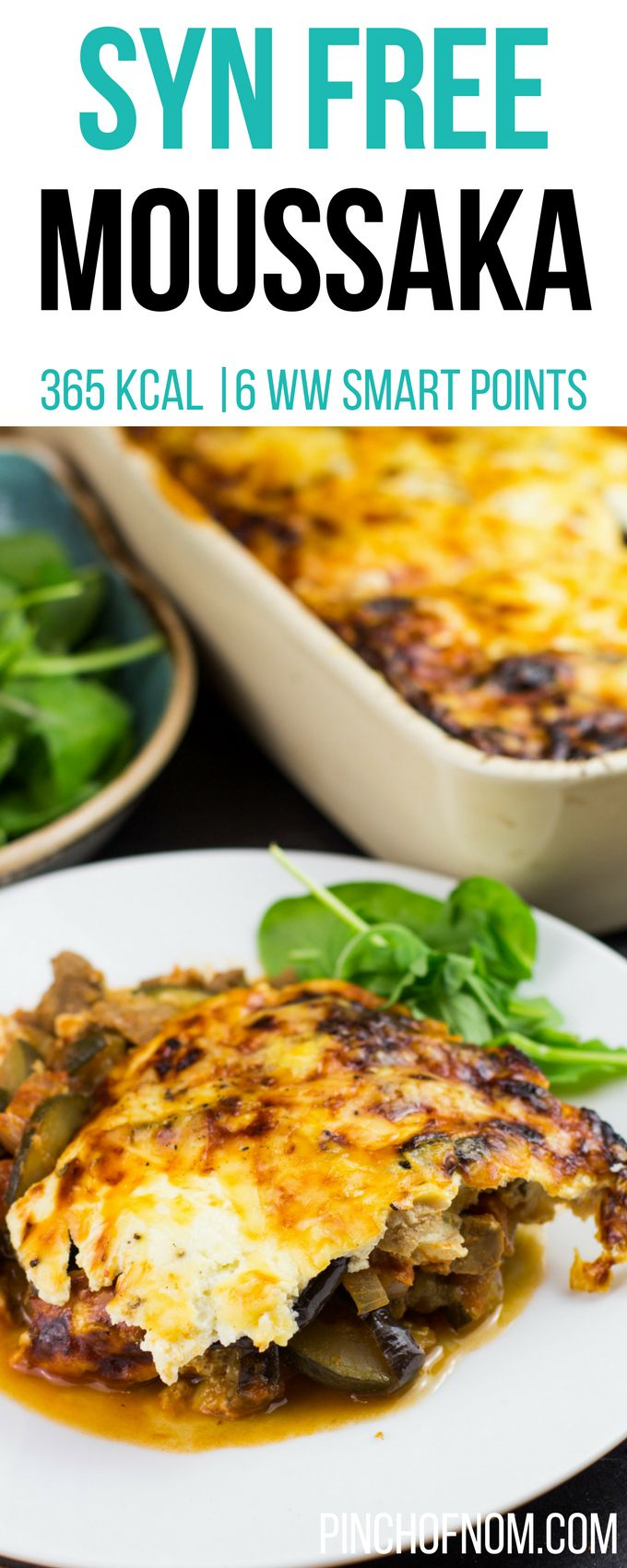 Syn Free Moussaka | Pinch Of Nom Slimming World Recipes     365 kcal | Syn Free | 6 Weight Watchers Smart Points