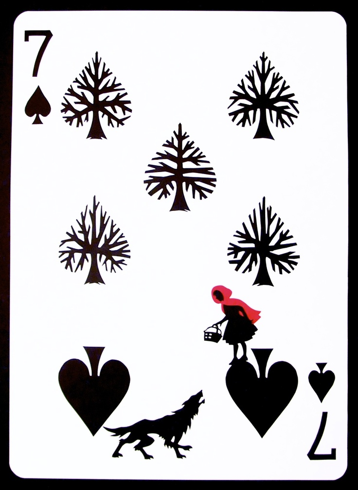 Little red riding hood playing card.  The Curator Deck.  www.emmanueljose.com