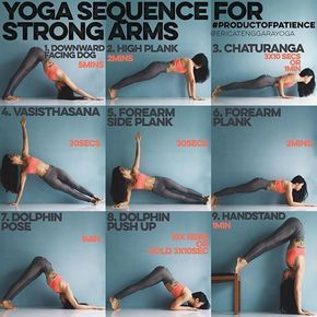 yoga sequence for strong arms this sequence is all about