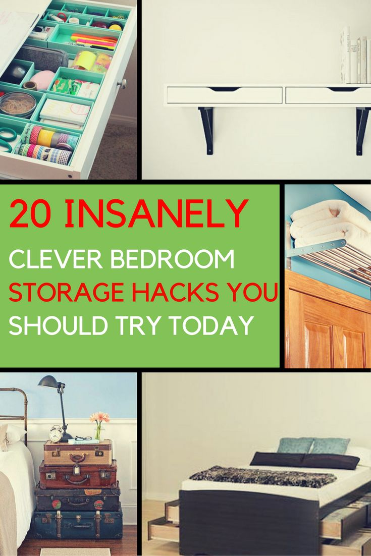 Bedroom Storage Ideas 20 Clever Ways To Organize Your Bedroom Bedroom Storage Hacks Bedroom
