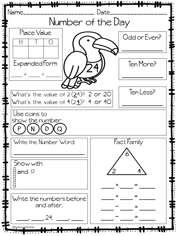 Calendar Activities For Third Grade : Back to school number of the day morning work maths