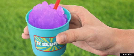 If jumping in your car and driving all the way to your nearest 7-Eleven for a Slurpee has always seemed like way too much of a hassle, you're in luck: inventive minds have conjured up an at-home Slurpee maker. The machine, which retails for $49.99, is endorsed by 7-Eleven, which means every order comes with 1 coupon for a free 7-Eleven Slurpee.
