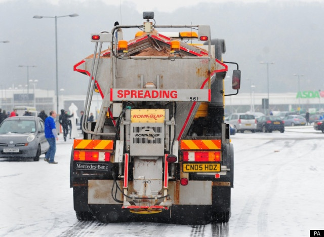 Roads are gritted around Cardiff City Centre