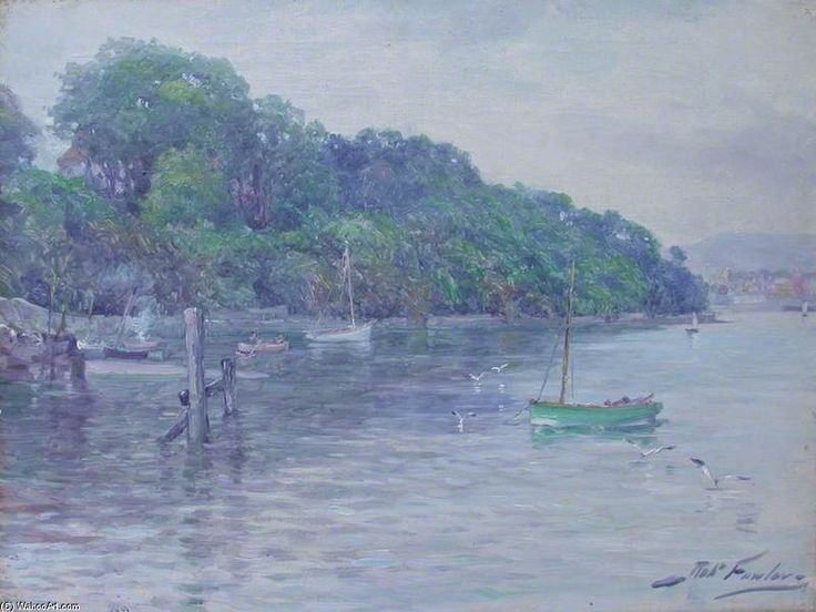 Scène de rivage avec Bateaux de Robert Fowler (1853-1926, United Kingdom)