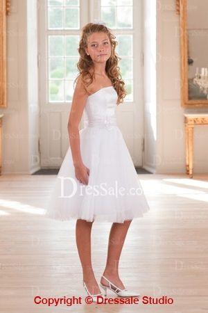 Elegant Strapless Short Formal Dresses