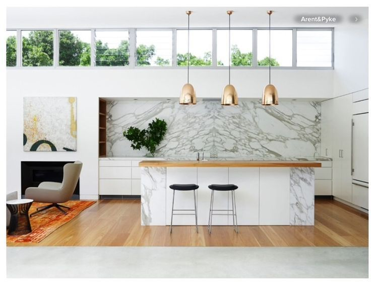 marble and timber kitchen - Google Search