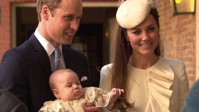 The christening of Prince George has taken place in the Chapel Royal at St James's Palace in London.