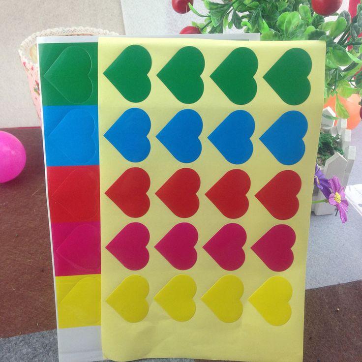 Diy форме сердца наклейка этикетки DIY пустой печать наклеек аид сделал поле пользовательское имя дизайн логотипа