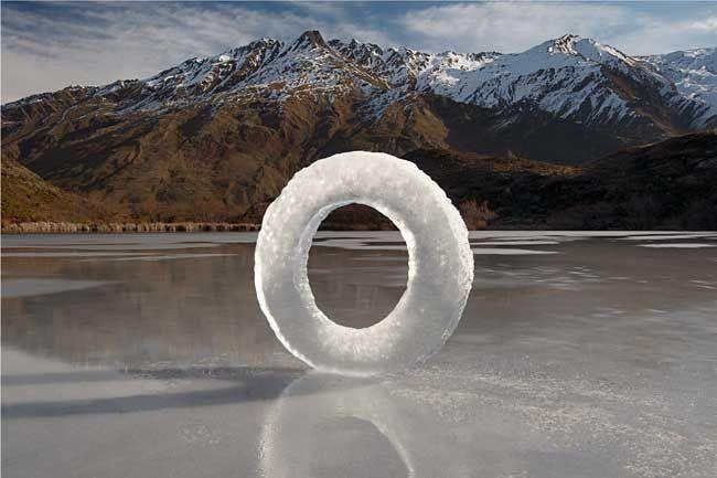 Martin Hill ice ring #landart