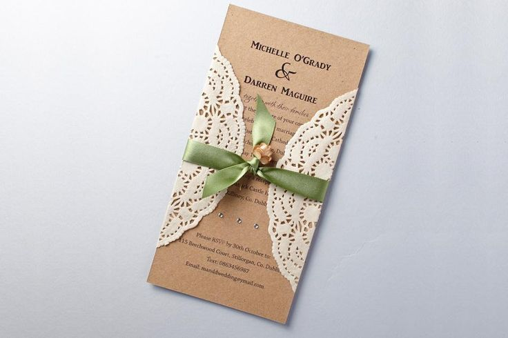handmade rustic wedding invitations E3rN3i6G5