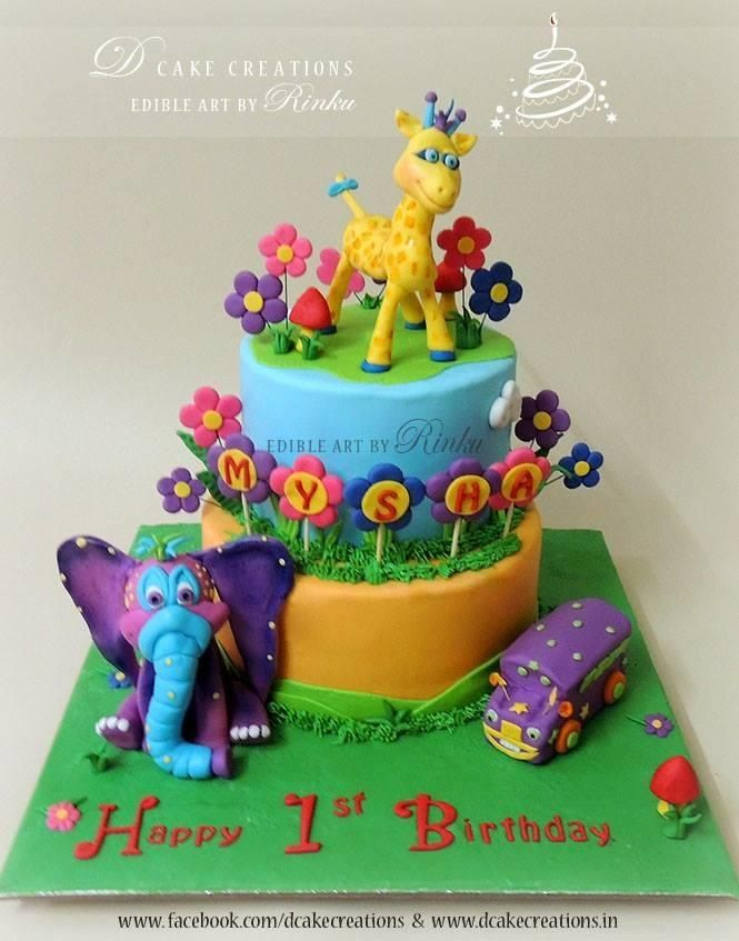 GiggleBellies Theme Birthday Cake - Cake by D Cake Creations