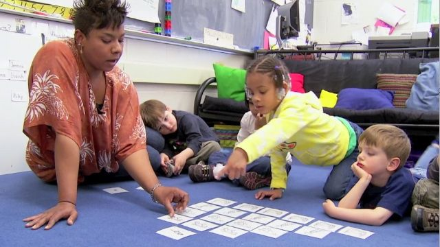 Who is Napping? This video from the Erikson Early Math Collaborative shows a kindergarten class that uses the story, The Napping House to explore patterns and graphing.