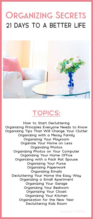 Pinterest (where I get a majority of my traffic from) sees me as THE authority on Organization! Which is great because I love organizing secrets!!!