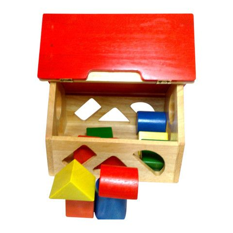 Wooden Toy Sorting House