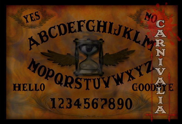Phantom Hour Ouija style Talking-board, Spiritboard, Witchboard, with the occult symbol of an eye and hourglass with wings, tempus fugit by ModernConjure on Etsy