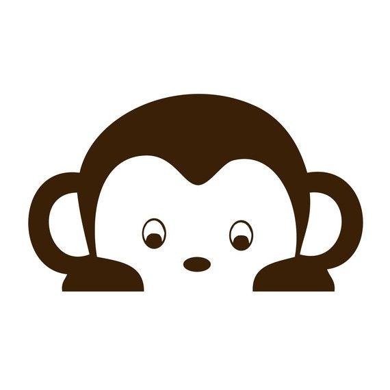 peeking pop monkey wall decal removable vinyl sticker cute monkey clipart cute monkey clipart