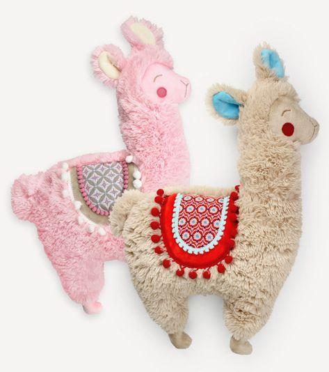 Alpaka oder Lama als Kuscheltier nähen - Schnittmuster und ...