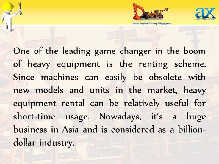 Online Heavy Equipment Rental Booming