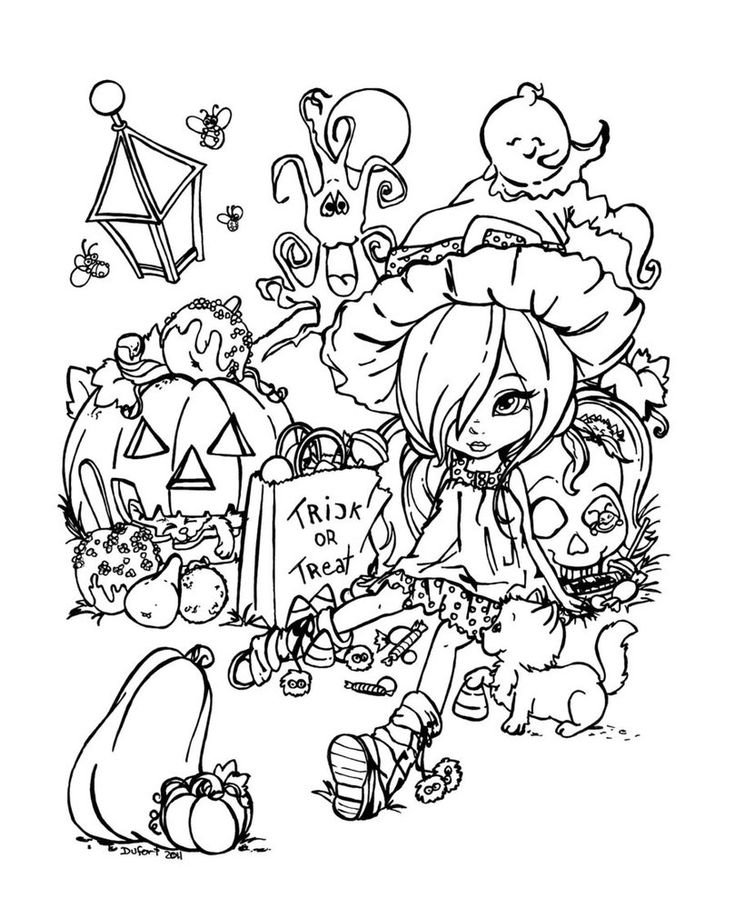 Colouring Pages For Halloween : 58 best fall & halloween coloring pages images on pinterest