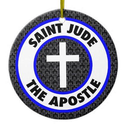 Saint Jude the Apostle Ceramic Ornament - home gifts ideas decor special unique custom individual customized individualized