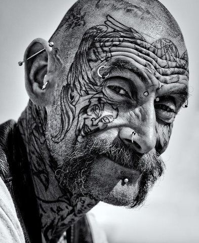 16 best facial tatoos images on pinterest faces facial for Terminator face tattoo
