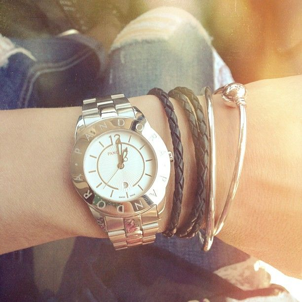 Charm Bracelet Watches: 42 Best Pandora Watch Combinations Images On Pinterest