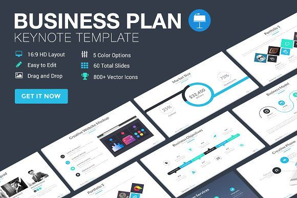 Business Plan - Keynote Template by SlidePro on @creativemarket
