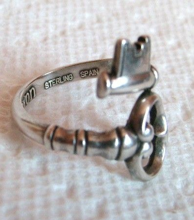 New take on spoon ring **love** by Olive Oyl