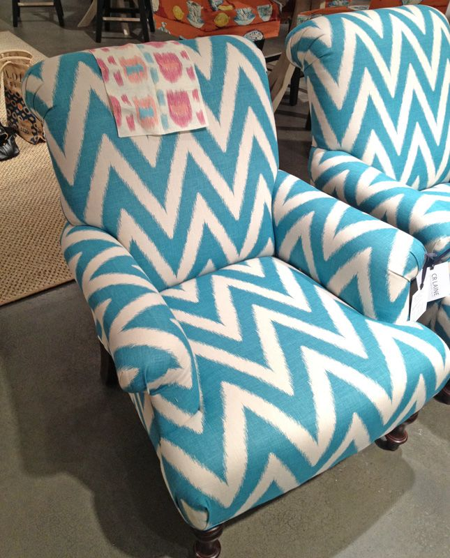 chevron chair to add color and texture to a room.