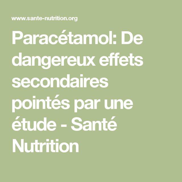 Paracétamol: De dangereux effets secondaires pointés par une étude - Santé Nutrition