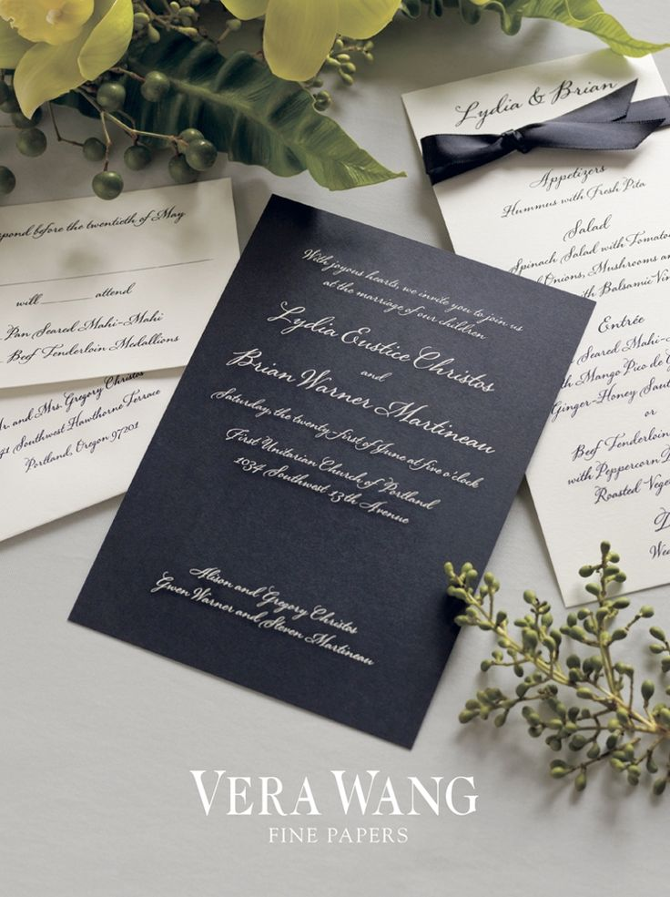 how to address wedding invitations inside envelope%0A Black Engraved Wedding Invitation   youroccasion ca