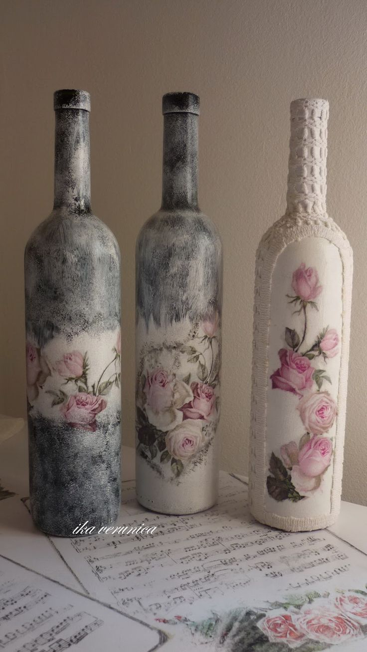 137 best images about garrafas decoradas on