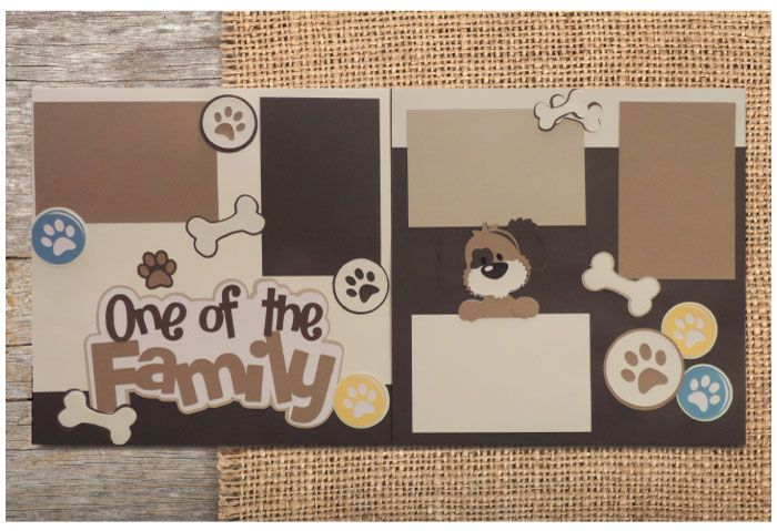 One of the Family Dog Scrapbook Kit SVG cutting files